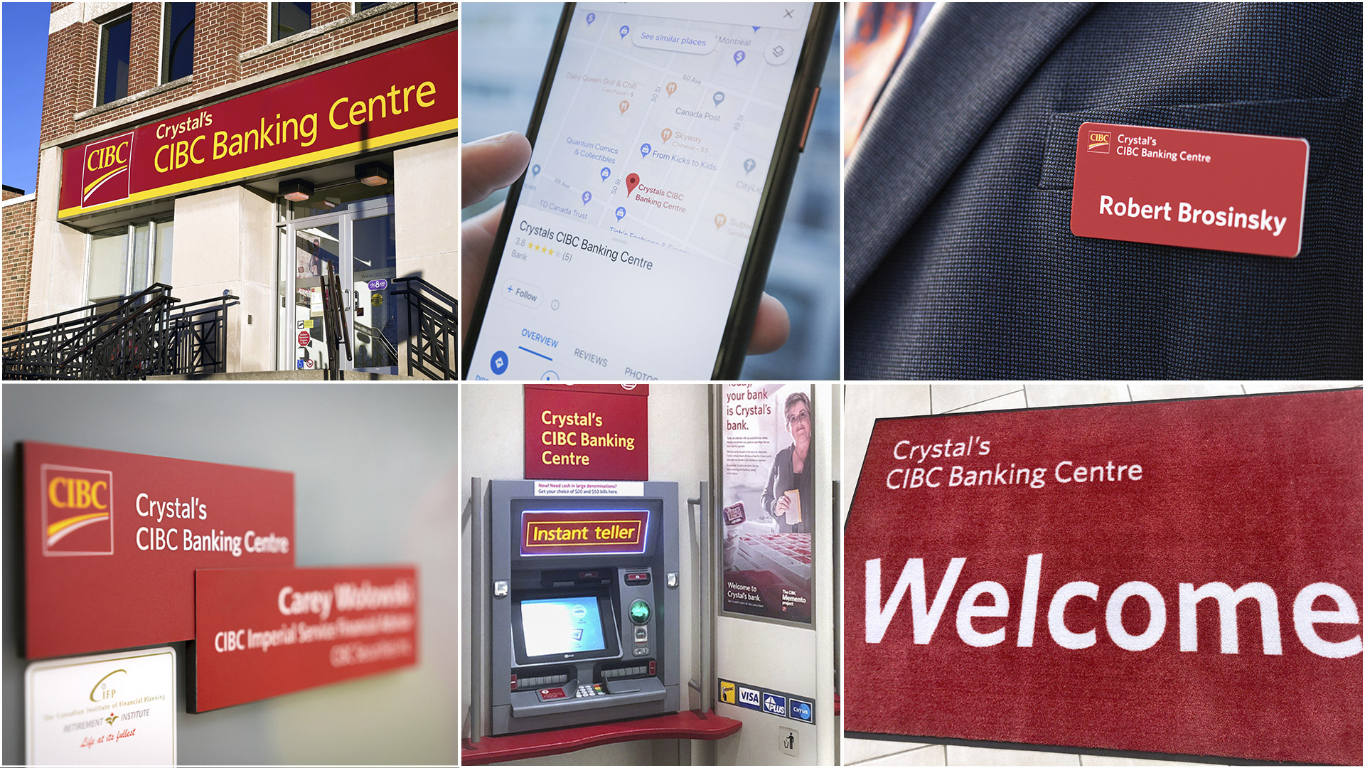 Crystals CIBC Banking Centre - Set of branded images - Fuse Marketing
